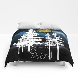 Full Moon Rising II Comforters