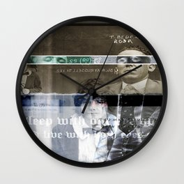 Sleep with one eye open and live with both eyes shut Wall Clock