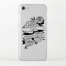 lazy perfectionist Clear iPhone Case