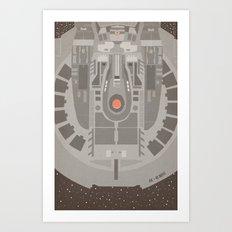 Star Trek NX - 01 Refit Art Print