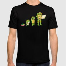 one mutation with extra cheese MEDIUM Black Mens Fitted Tee