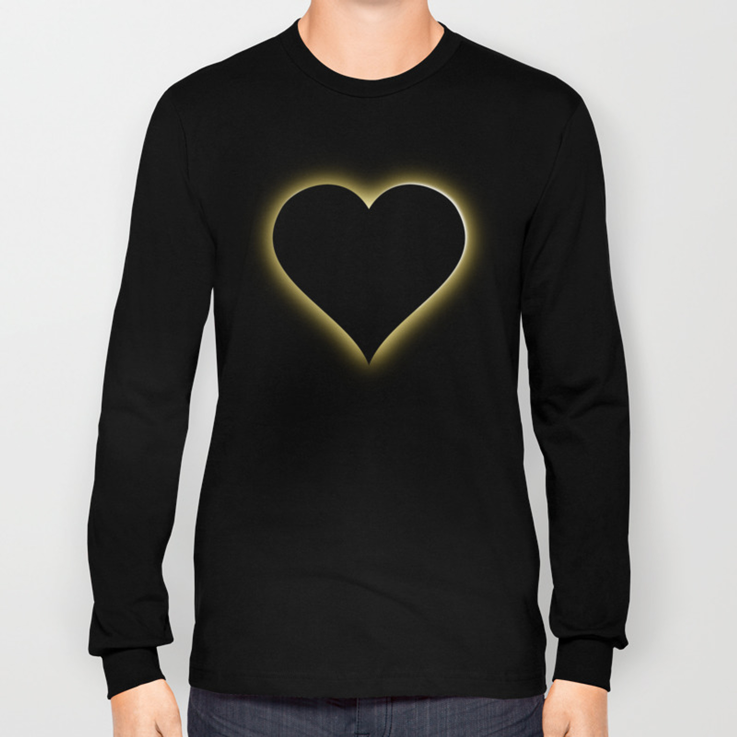 16e1be63cbd Valentines Night Sky Total Eclipse Of The Heart Long Sleeve T-shirt ...