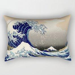 The Great Wave off Kanagawa Hokusai Rectangular Pillow