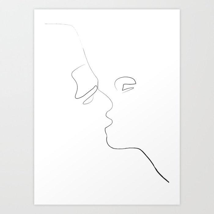 Lovers-Minimlism Art Print