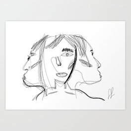 3 figure Art Print