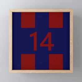 Legendary No. 14 in red and blue Framed Mini Art Print