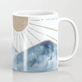 Indigo & gold landscape 1 Coffee Mug