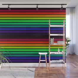 Spectrum - Rainbow Stripes - Colorful - Manafold Art Wall Mural