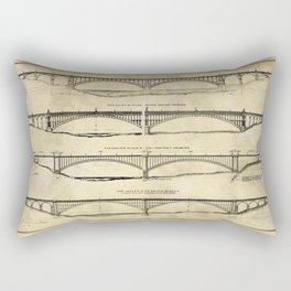 Washington Bridge Proposal Blueprint Plans Rectangular Pillow