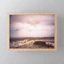 Rough wave Framed Mini Art Print