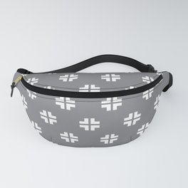 Scandinavian / Light Grey + White Fanny Pack