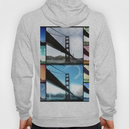 Golden Gate Bridge colorful Photo Collage Hoody