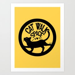 Cat walk space Art Print