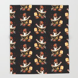 Zombie Pin Up Throw Blanket