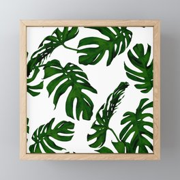 Simply Tropical Palm Leaves in Jungle Green Framed Mini Art Print