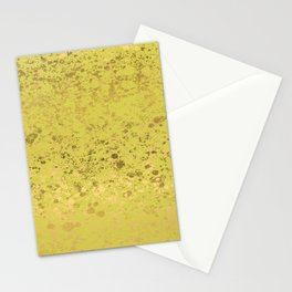 Green Sheen and Gold Patina Design Stationery Cards