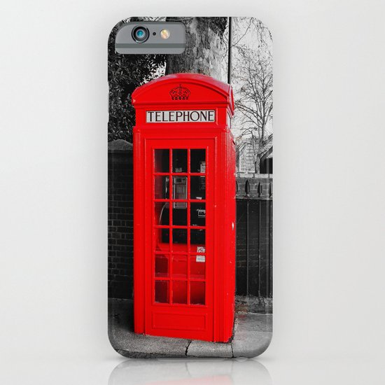 Red Telephone Box iPhone & iPod Case