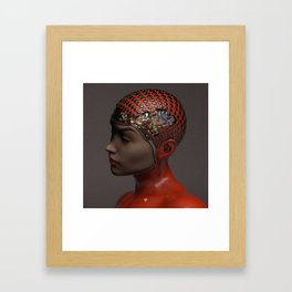 HER MIND ∀ Framed Art Print