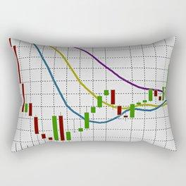 Indicator Alligator on white Rectangular Pillow