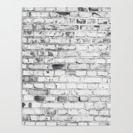 Withe brick wall Poster