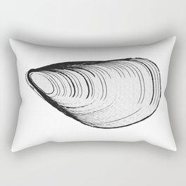 black or white mussel it's my life Rectangular Pillow