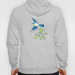 Flying Birds and Oak Leaves on Yellow Hoody