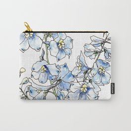 Blue Delphinium Flowers Carry-All Pouch