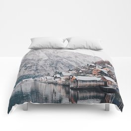 VILLAGE - COAST - MOUNTAINS - SNOW - PHOTOGRAPHY Comforters