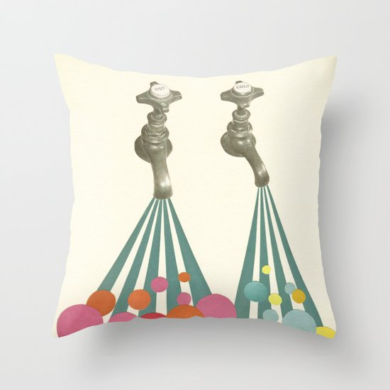 Soapsuds Throw Pillow
