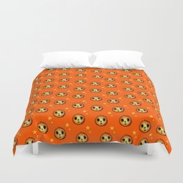 Creepy Cute Halloween Pumpkin Design Duvet Cover