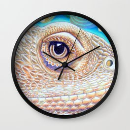 Dragon Star, Bearded Dragon Lizard Art Wall Clock