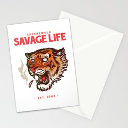 Savage life Stationery Cards