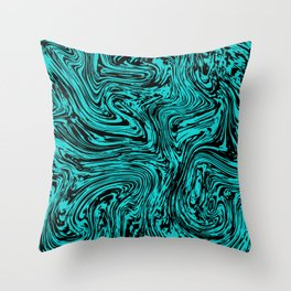 Marble pattern sea wave Throw Pillow