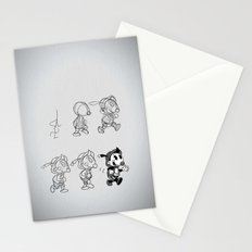 Cartoon Character Step by Step Stationery Cards