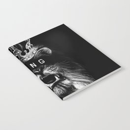 Lion, Lionart, King, Animal, Black,Minimal,Interior, Black White,Wall art, Art Print,Trendy decor Notebook