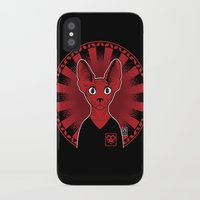 sphynx iPhone & iPod Cases featuring Sphynx! by Visually Odd