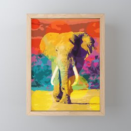 Elephant Pop Framed Mini Art Print