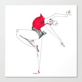 dancer in red Canvas Print