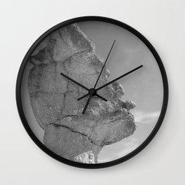SHAPE OF A FACE B&W Wall Clock