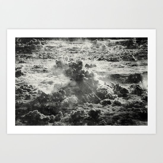 Somewhere Over The Clouds (III Art Print