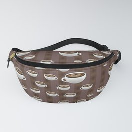 Coffee Cups And Stripes Fanny Pack