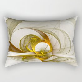 Fractal Art Precious Metals, Abstract Graphic Rectangular Pillow