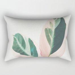 Pink Leaves I Rectangular Pillow