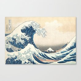 The Great Wave off Kanagawa by Katsushika Hokusai from the series Thirty-six Views of Mount Fuji Canvas Print
