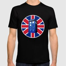 Tardis British Mens Fitted Tee MEDIUM Black