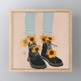 Flower Boots Framed Mini Art Print