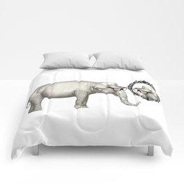 Elefante con gafas, se mira en el espejo Comforters