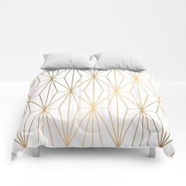 Gold Geometric Pattern Illustration Comforters