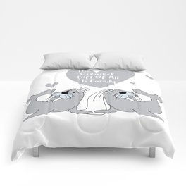 Seal Happy Ending - The Greatest Gift of all is Family - Happy Valentines Day Comforters