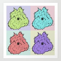 Pop Art Guinea Pigs Art Print